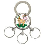 Cute cow 3-Ring Key Chain