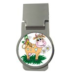 Cute cow Money Clip (Round)