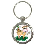 Cute cow Key Chain (Round)