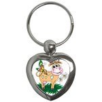 Cute cow Key Chain (Heart)