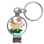 Cute cow Nail Clippers Key Chain