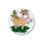 Cute cow Rubber Round Coaster (4 pack)
