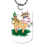 Cute cow Dog Tag (One Side)