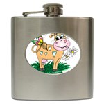 Cute cow Hip Flask (6 oz)