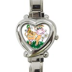 Cute cow Heart Italian Charm Watch