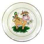 Cute cow Porcelain Plate