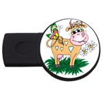 Cute cow USB Flash Drive Round (4 GB)