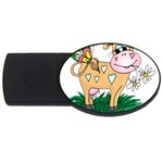 Cute cow USB Flash Drive Oval (4 GB)