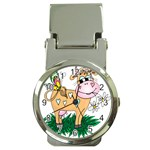 Cute cow Money Clip Watch