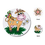Cute cow Playing Cards (Round)