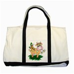 Cute cow Two Tone Tote Bag