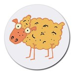 Funky sheep Round Mousepad
