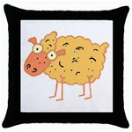 Funky sheep Throw Pillow Case (Black)