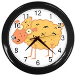 Funky sheep Wall Clock (Black)