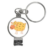 Funky sheep Nail Clippers Key Chain