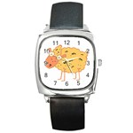 Funky sheep Square Metal Watch