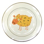 Funky sheep Porcelain Plate