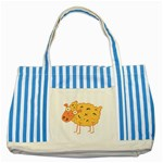 Funky sheep Striped Blue Tote Bag