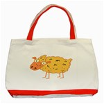 Funky sheep Classic Tote Bag (Red)