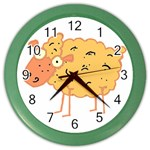Funky sheep Color Wall Clock