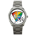 GAY COMING OUT Rainbow Pride Flag Lesbian Sport Metal Watch