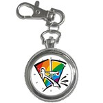 GAY COMING OUT Rainbow Pride Flag Lesbian Key Chain Watch
