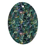 Paua Design Oval Ornament (Two Sides)