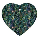 Paua Design Ornament (Heart)