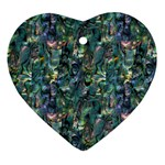 Paua Design Heart Ornament (Two Sides)