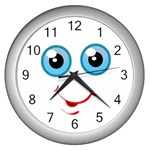 Cute Wall Clock (Silver)