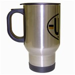 Ukraine Euro Oval - UA Travel Mug (Silver Gray)