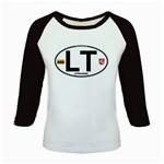 LT - Lithuania Euro Oval Kids Baseball Jersey