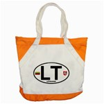 LT - Lithuania Euro Oval Accent Tote Bag