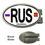 RUS - Russia Euro Oval Money Clip (Oval)