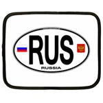 RUS - Russia Euro Oval Netbook Case (XL)