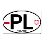 Poland Euro Oval - PL Magnet (Rectangular)