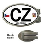 CZ - Czech Republic Money Clip (Oval)