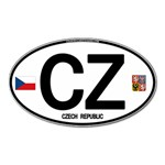 CZ - Czech Republic Magnet (Oval)