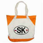 SK - Slovakia Euro Oval Accent Tote Bag