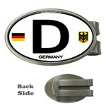 D - Germany Euro Oval Money Clip (Oval)