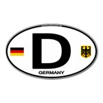 D - Germany Euro Oval Magnet (Oval)