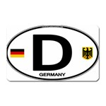D - Germany Euro Oval Magnet (Rectangular)