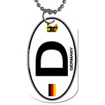 D - Germany Euro Oval Dog Tag (One Side)