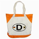 D - Germany Euro Oval Accent Tote Bag