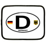 D - Germany Euro Oval Netbook Case (XL)