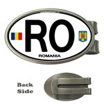 RO - Romania Euro Oval Money Clip (Oval)