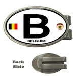B - Belgium Euro Oval Money Clip (Oval)