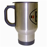 B - Belgium Euro Oval Travel Mug (Silver Gray)