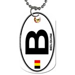 B - Belgium Euro Oval Dog Tag (One Side)