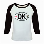 DK - Denmark Euro Oval Kids Baseball Jersey